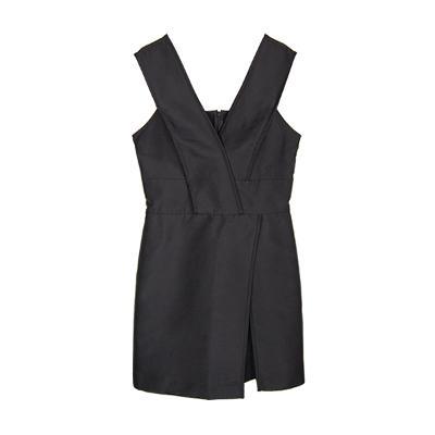 suspenders dress black